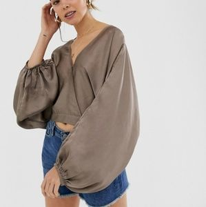 NWT Free People Midnight Vibes Blouse
